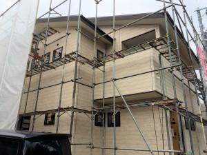 27.12.11廿日市市M様邸 外壁施工